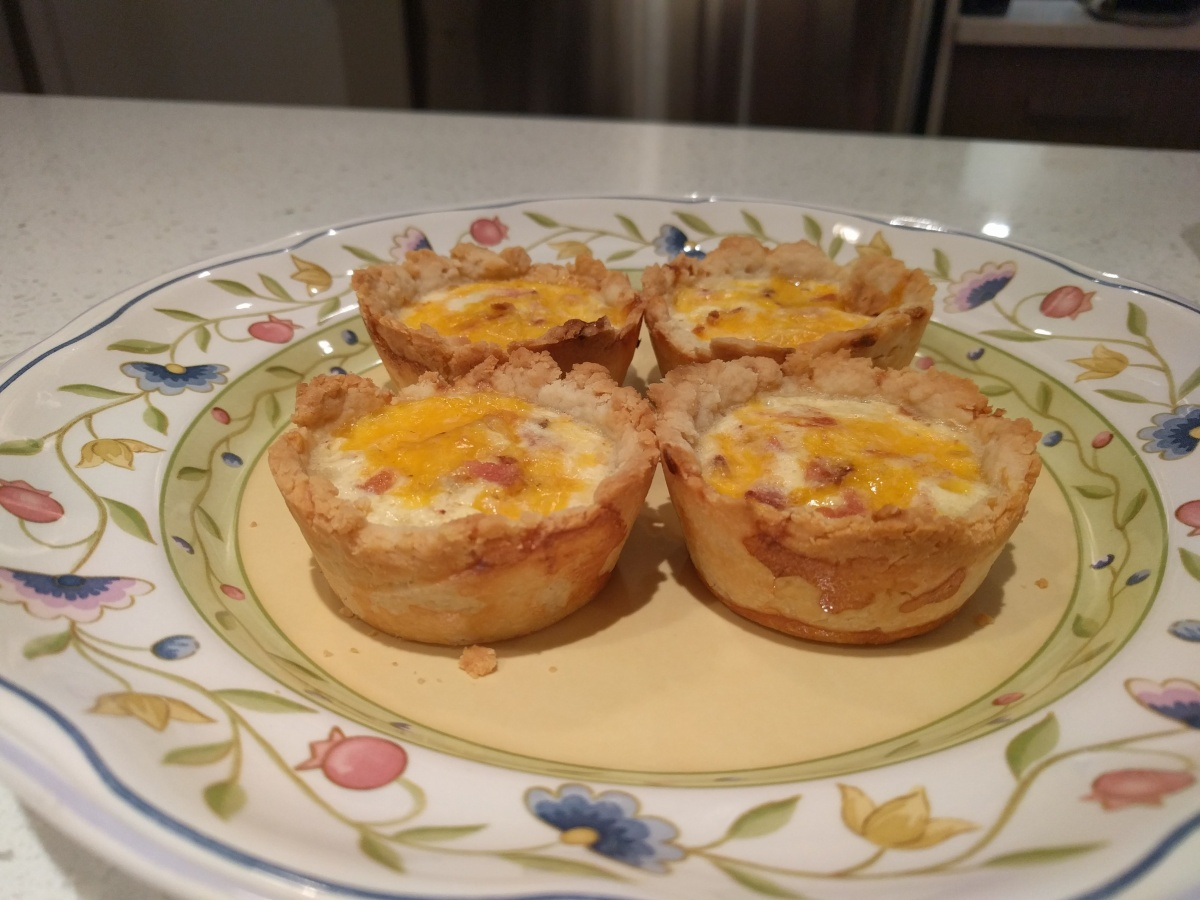 Miniature Bacon Cheese Quiche